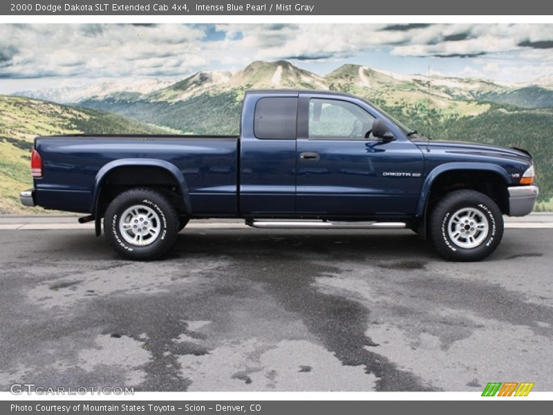 ... Blue Pearl / Mist Gray 2000 Dodge Dakota SLT Extended Cab 4x4 Photo #2