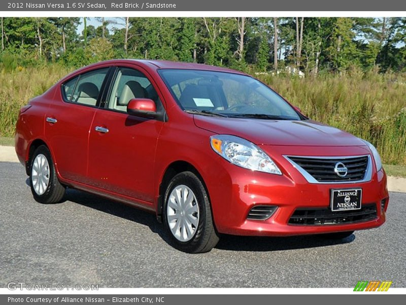 2012 nissan versa 1 6 sv sedan in red brick photo no 71436527. Black Bedroom Furniture Sets. Home Design Ideas