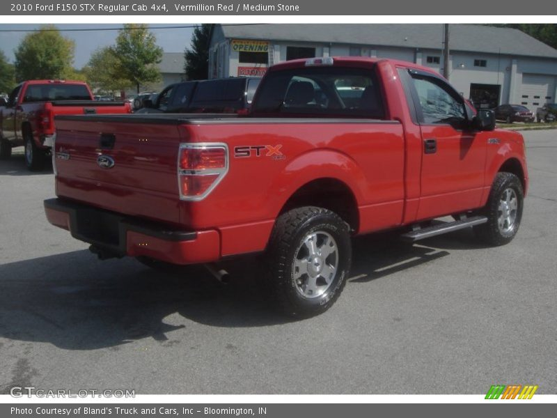 Vermillion Red / Medium Stone 2010 Ford F150 STX Regular Cab 4x4