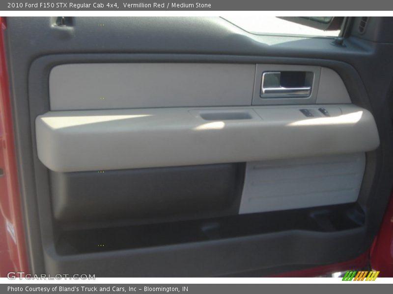 Vermillion Red / Medium Stone 2010 Ford F150 STX Regular Cab 4x4