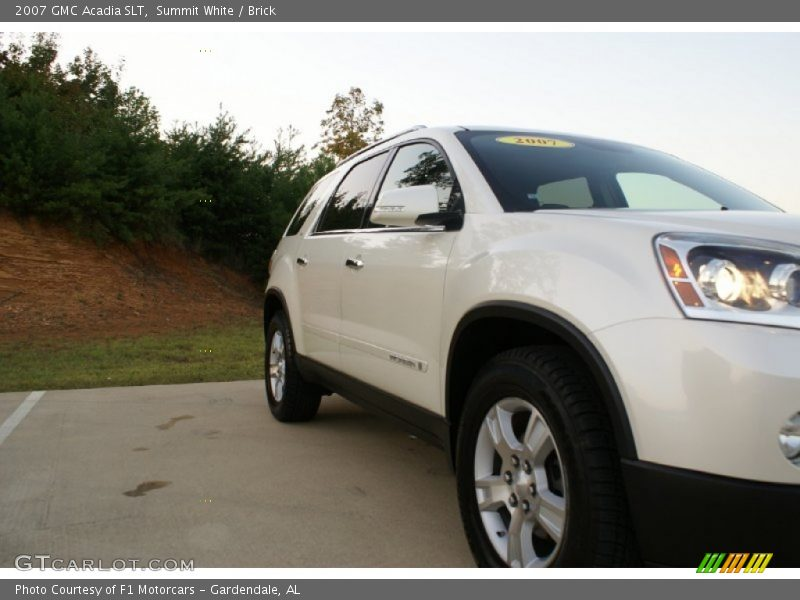 Summit White / Brick 2007 GMC Acadia SLT