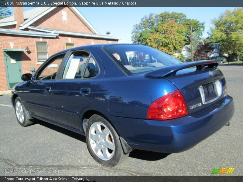 2006 nissan sentra 1 8 s special edition in sapphire blue metallic photo no 72190119. Black Bedroom Furniture Sets. Home Design Ideas