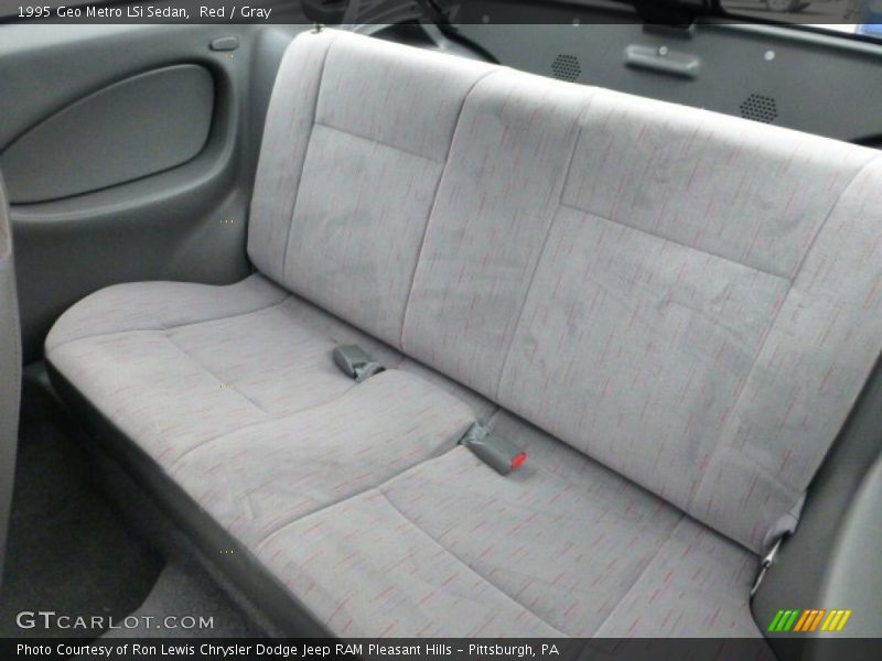 Red / Gray 1995 Geo Metro LSi Sedan
