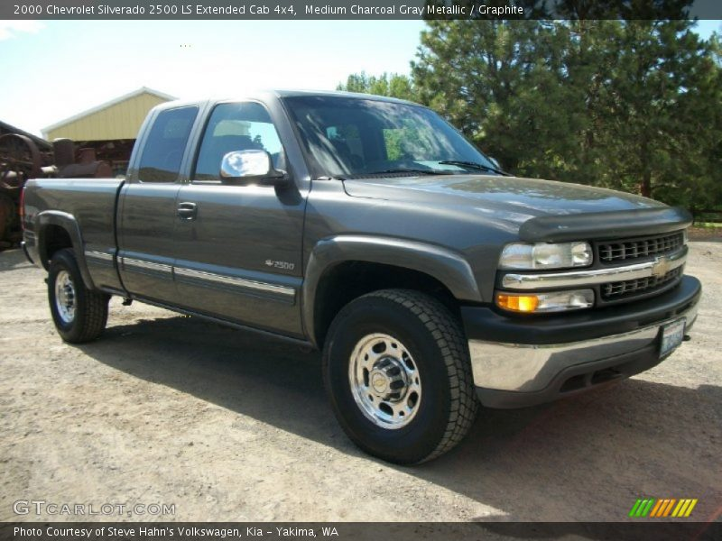 2000 chevrolet silverado 2500 ls extended cab 4x4 in medium charcoal gray metallic photo no. Black Bedroom Furniture Sets. Home Design Ideas