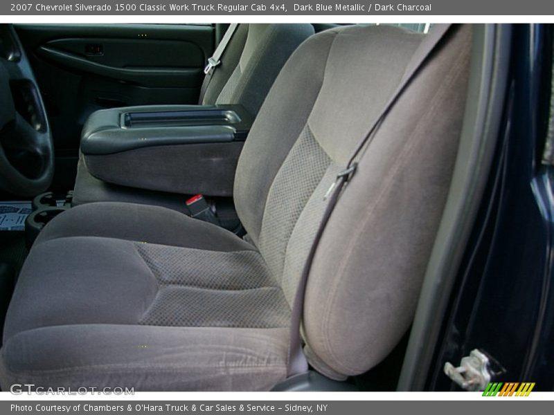 Dark Blue Metallic / Dark Charcoal 2007 Chevrolet Silverado 1500 Classic Work Truck Regular Cab 4x4