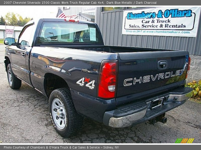 Dark Blue Metallic / Dark Charcoal 2007 Chevrolet Silverado 1500 Classic Work Truck Regular Cab 4x4
