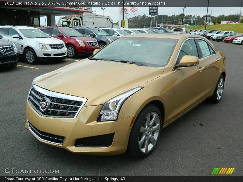 2013 cadillac ats 2 5l luxury in summer gold metallic photo no 72744570. Black Bedroom Furniture Sets. Home Design Ideas