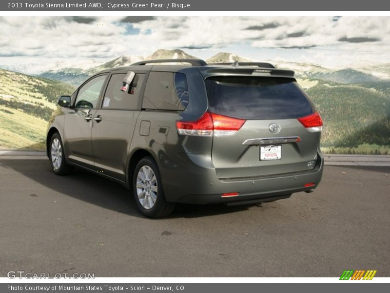 2013 toyota sienna limited awd in cypress green pearl. Black Bedroom Furniture Sets. Home Design Ideas