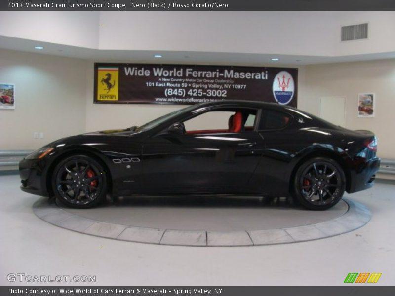Nero (Black) / Rosso Corallo/Nero 2013 Maserati GranTurismo Sport Coupe