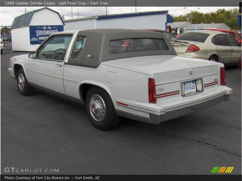 1988 cadillac deville coupe in light pearl gray photo no. Cars Review. Best American Auto & Cars Review