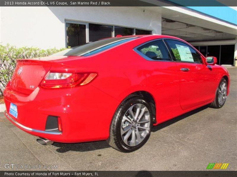 2013 Honda Accord EX-L V6 Coupe in San Marino Red Photo No. 73383494 ...