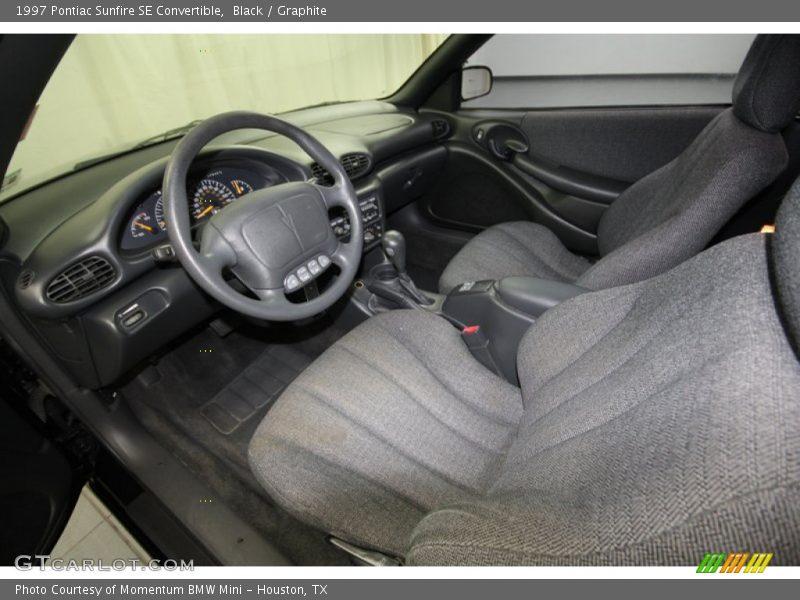 Graphite Interior - 1997 Sunfire SE Convertible