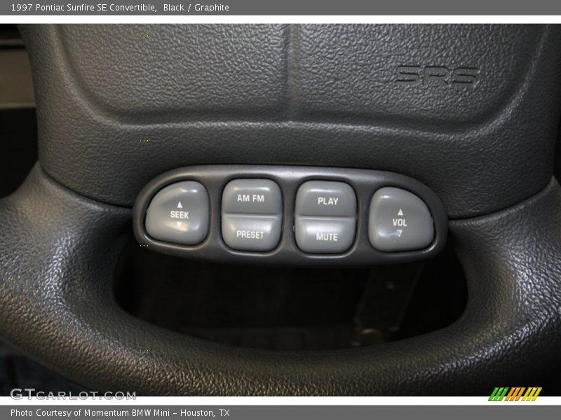 Controls of 1997 Sunfire SE Convertible