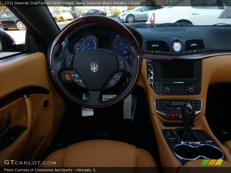 Nero Carbonio (Black Metallic) / Cuoio 2013 Maserati GranTurismo Sport Coupe