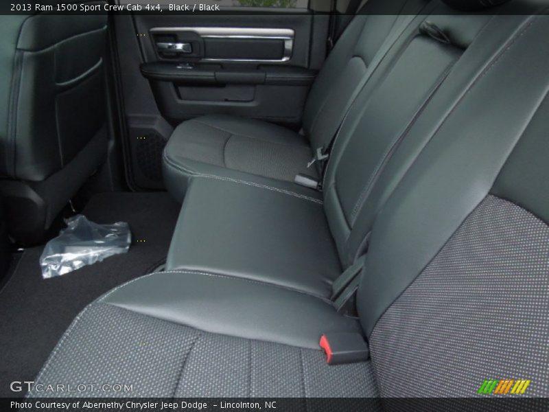 Rear Seat of 2013 1500 Sport Crew Cab 4x4