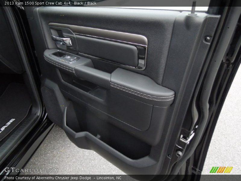 Black / Black 2013 Ram 1500 Sport Crew Cab 4x4