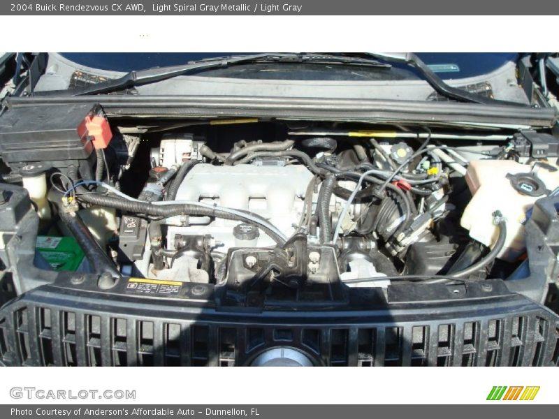 Light Spiral Gray Metallic / Light Gray 2004 Buick Rendezvous CX AWD