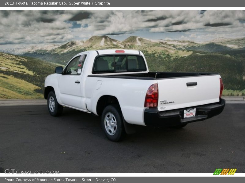 2013 toyota tacoma regular cab in super white photo no 74390473. Black Bedroom Furniture Sets. Home Design Ideas