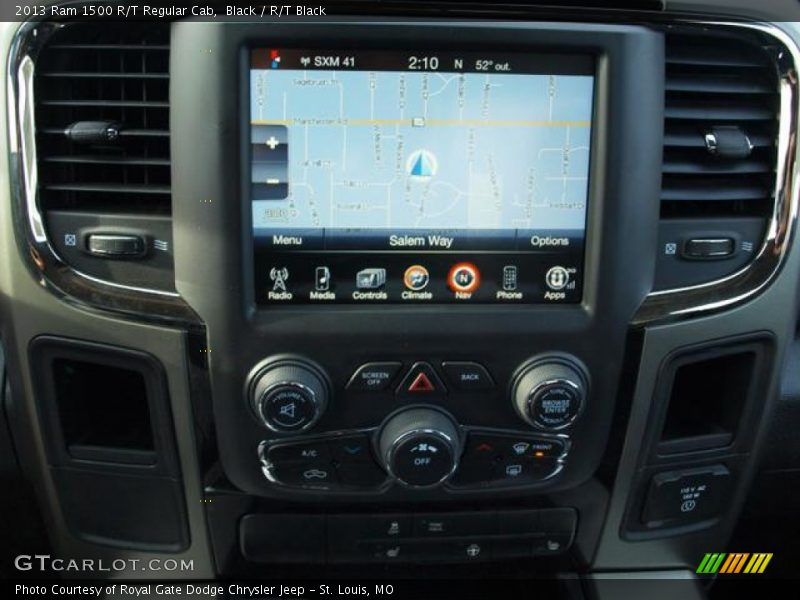 Navigation of 2013 1500 R/T Regular Cab