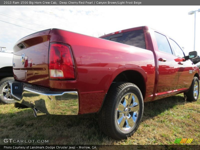 Deep Cherry Red Pearl / Canyon Brown/Light Frost Beige 2013 Ram 1500 Big Horn Crew Cab