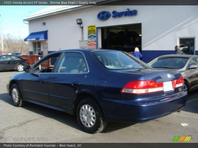 Eternal Blue Pearl / Quartz Gray 2002 Honda Accord VP Sedan