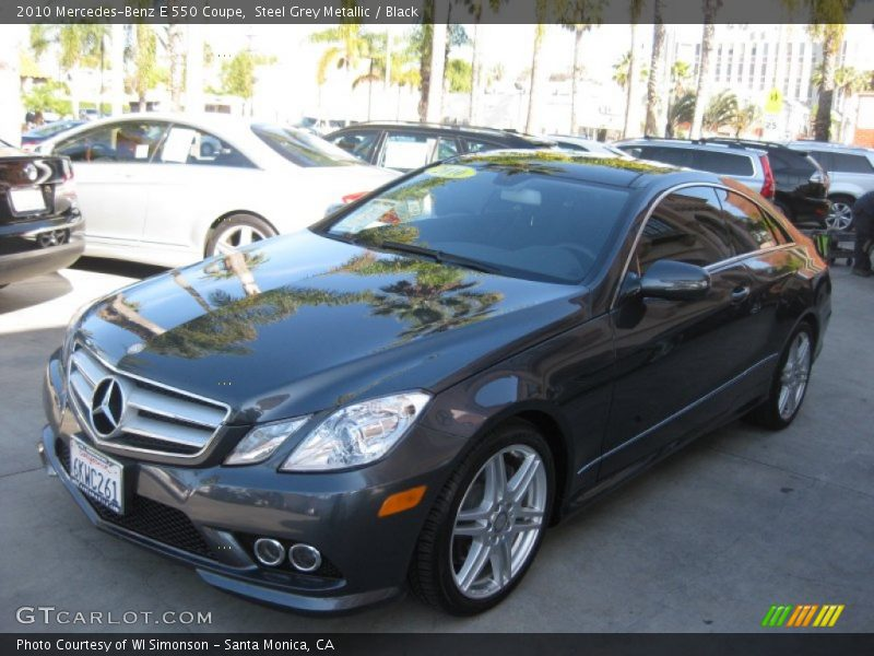 Steel Grey Metallic / Black 2010 Mercedes-Benz E 550 Coupe