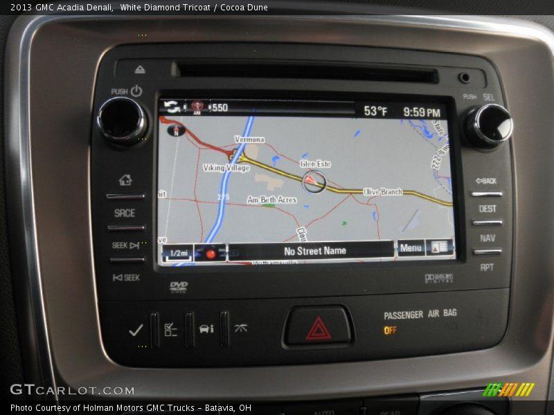 Navigation of 2013 Acadia Denali
