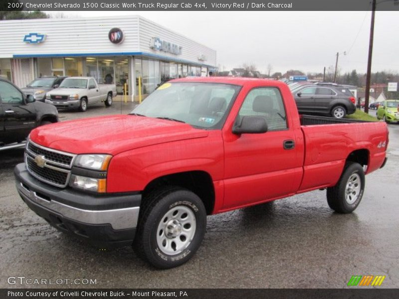 Victory Red / Dark Charcoal 2007 Chevrolet Silverado 1500 Classic Work Truck Regular Cab 4x4