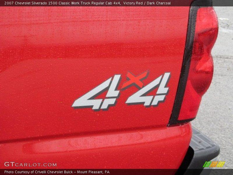 Victory Red / Dark Charcoal 2007 Chevrolet Silverado 1500 Classic Work Truck Regular Cab 4x4