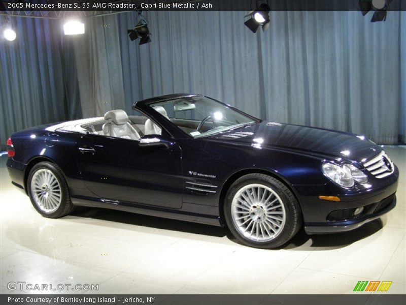 2005 mercedes benz sl55 amg capri blue ash grey front for 2005 mercedes benz sl55 amg