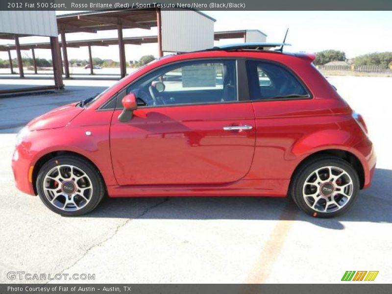 Rosso Brillante (Red) / Sport Tessuto Nero/Nero (Black/Black) 2012 Fiat 500 Sport