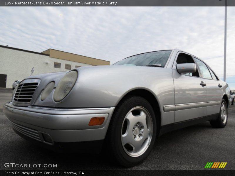 Brilliant Silver Metallic / Grey 1997 Mercedes-Benz E 420 Sedan