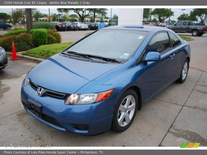 2006 honda civic ex coupe in atomic blue metallic photo no 7541344. Black Bedroom Furniture Sets. Home Design Ideas