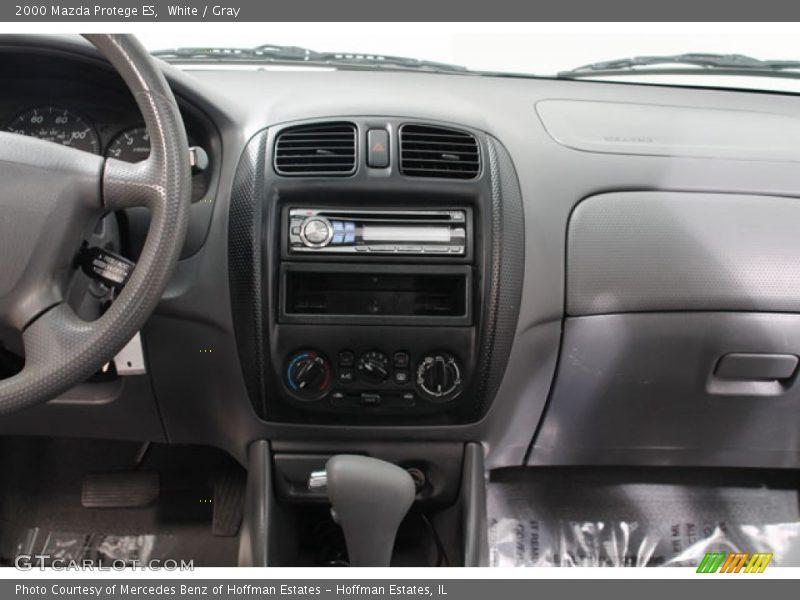 White / Gray 2000 Mazda Protege ES