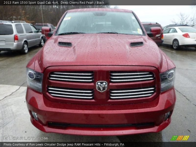 Deep Cherry Red Pearl / Black 2013 Ram 1500 Sport Quad Cab 4x4