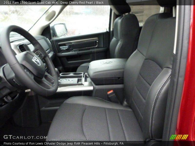 2013 1500 Sport Quad Cab 4x4 Black Interior