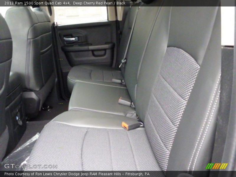 Rear Seat of 2013 1500 Sport Quad Cab 4x4