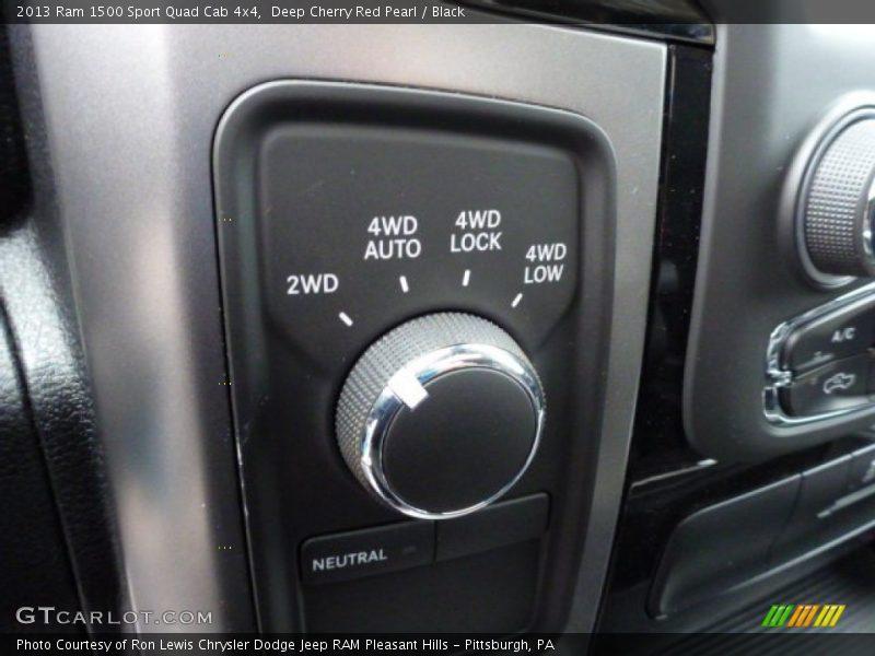 Controls of 2013 1500 Sport Quad Cab 4x4