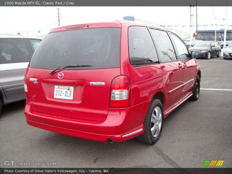 Classic Red / Gray 2000 Mazda MPV ES