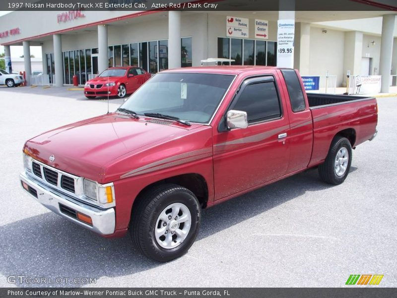 1997 nissan hardbody truck xe extended cab in aztec red photo no 7686853. Black Bedroom Furniture Sets. Home Design Ideas