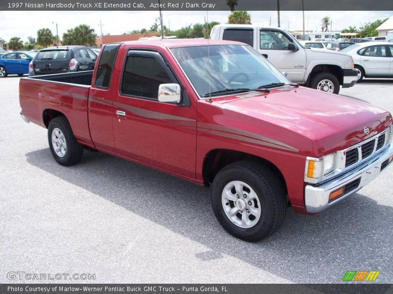 1997 nissan hardbody truck xe extended cab in aztec red. Black Bedroom Furniture Sets. Home Design Ideas