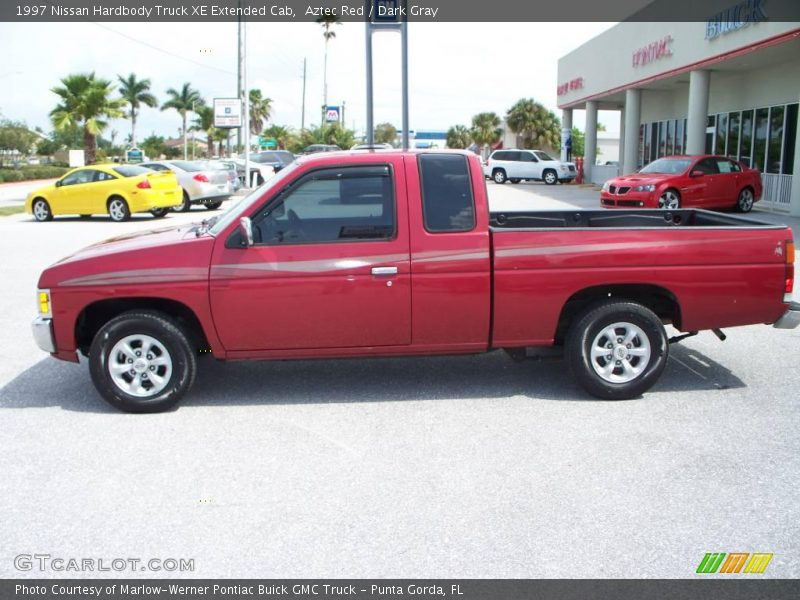 1997 nissan hardbody truck xe extended cab in aztec red photo no 7686888. Black Bedroom Furniture Sets. Home Design Ideas