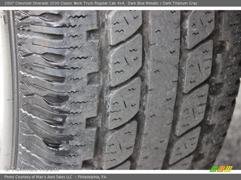 Dark Blue Metallic / Dark Titanium Gray 2007 Chevrolet Silverado 1500 Classic Work Truck Regular Cab 4x4