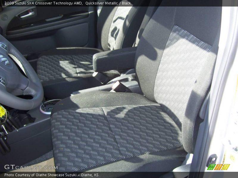 Quicksilver Metallic / Black 2009 Suzuki SX4 Crossover Technology AWD