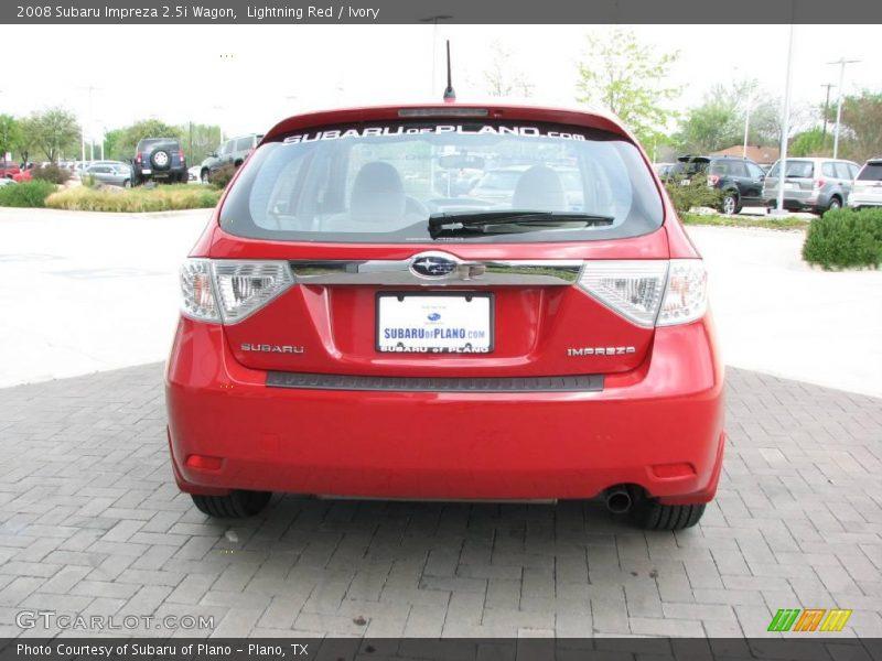 Lightning Red / Ivory 2008 Subaru Impreza 2.5i Wagon