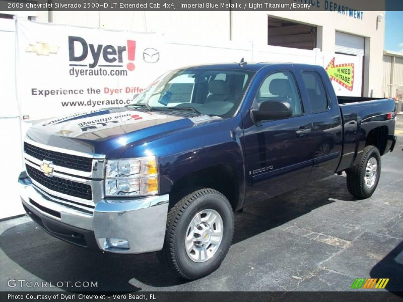 2009 chevrolet silverado 2500hd lt extended cab 4x4 in imperial blue metallic photo no 7714552. Black Bedroom Furniture Sets. Home Design Ideas