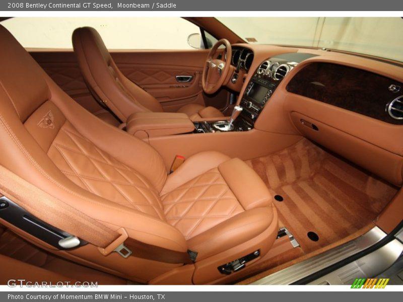 2008 Continental GT Speed Saddle Interior