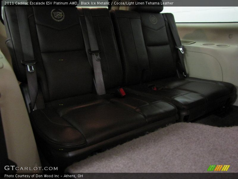 Black Ice Metallic / Cocoa/Light Linen Tehama Leather 2011 Cadillac Escalade ESV Platinum AWD