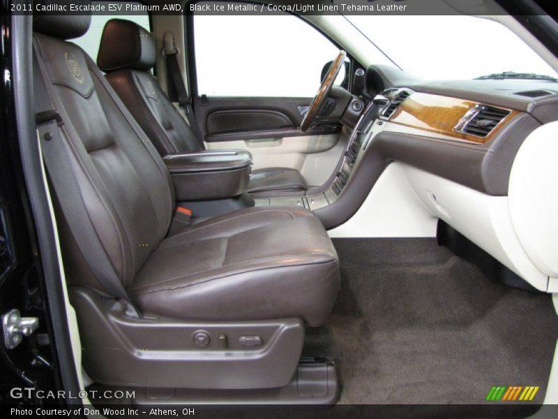 Black Ice Metallic / Cocoa/Light Linen Tehama Leather 2011 Cadillac Escalade ESV Platinum AWD