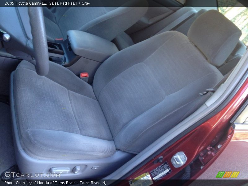 Front Seat of 2005 Camry LE